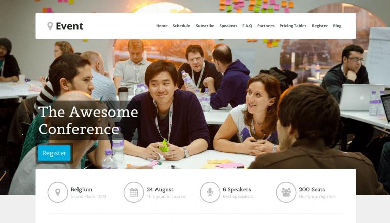 Event – WordPress Landing Page Theme