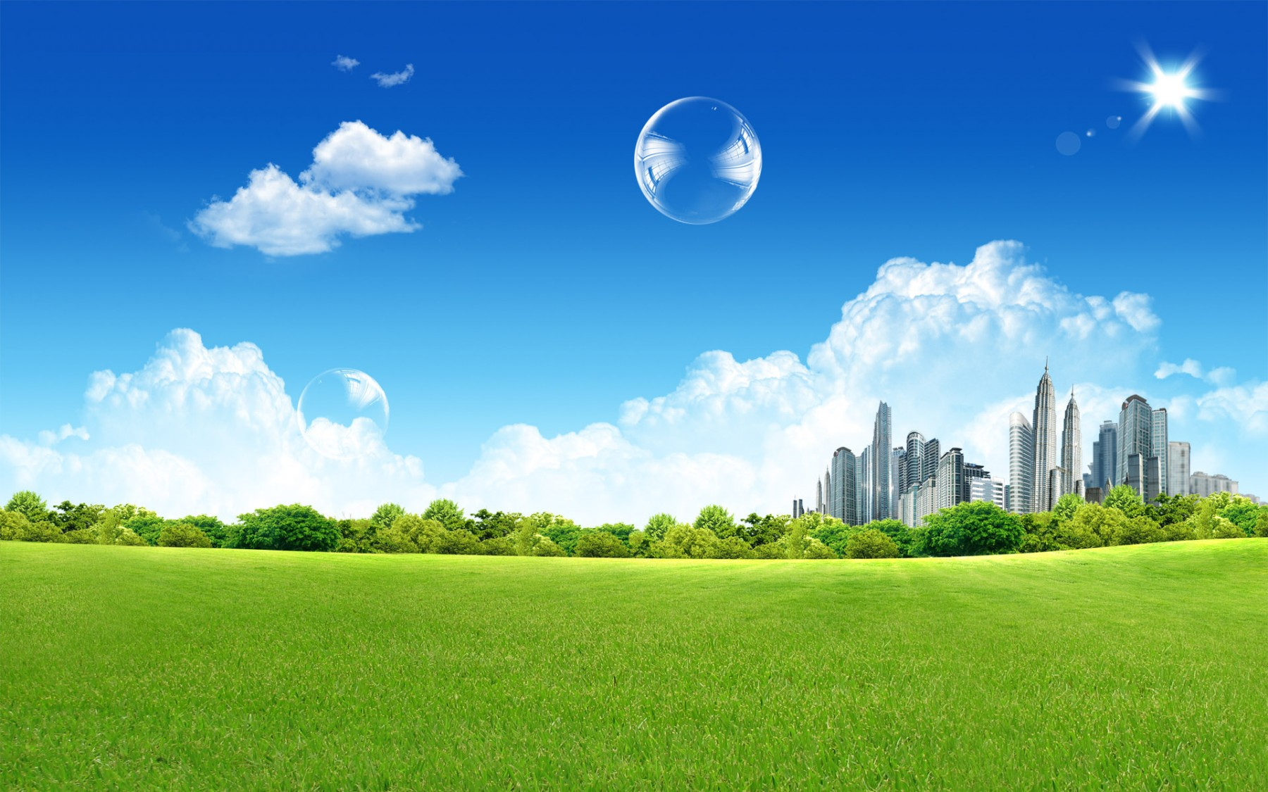Fantasy Green City – Photography Wallpapers