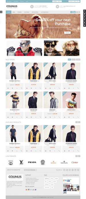 Colinus is a Premium Prestashop Theme for Fashion store, men store, high fashion store, clothing ...