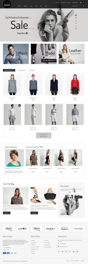 London Stars is a simple but modern responsive Prestashop theme that oozes high-street sophistic ...