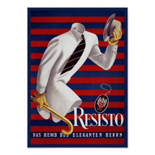 German Art Deco men's fashion vintage poster | Zazzle