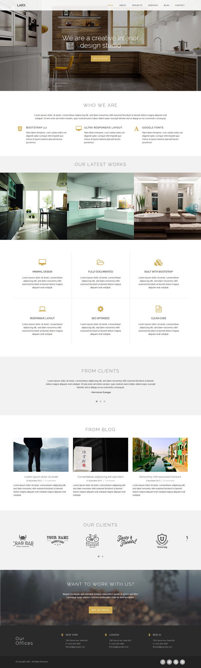 Larx is a amazing Bootstrap template for Creative, Architecture, Organization, Community, Compan ...