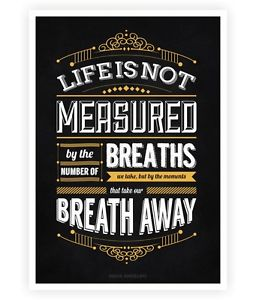 Life Is not Measured by The Number Maya Angelou Inspirational Quotes Poster | eBay