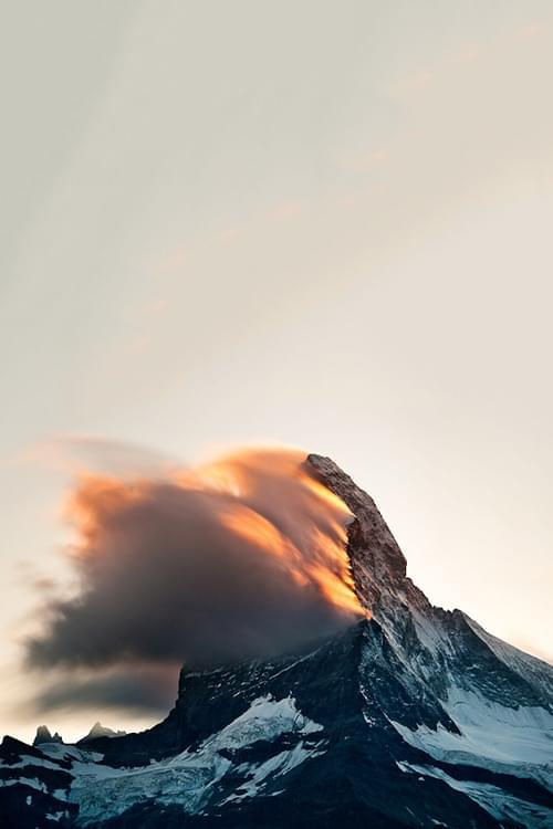 Burning Peak, Switzerland | The Glorified Landscape by Rafael Rojas