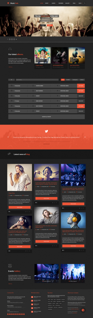 MusicHub is the best theme for music, club, party, radio station, bands, events, or blogging.