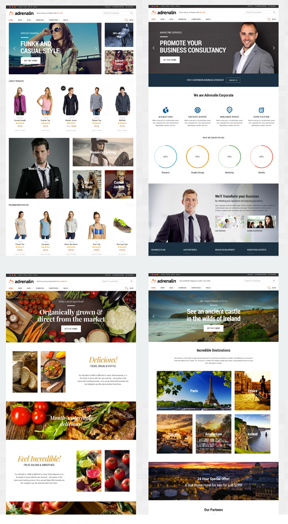 17 New Best Responsive Websites Themes (30th Oct 2014)