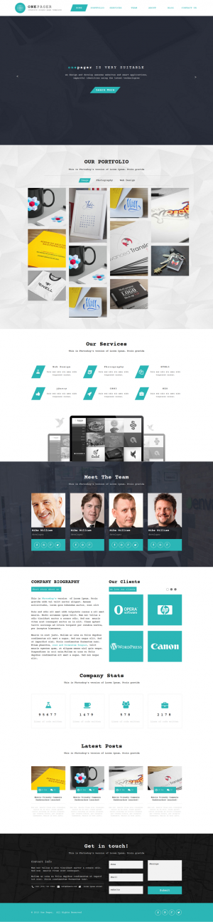 Onepage is an simple, clean and modern Muse Theme for Corporate Profile and Creative Portfolio.  ...