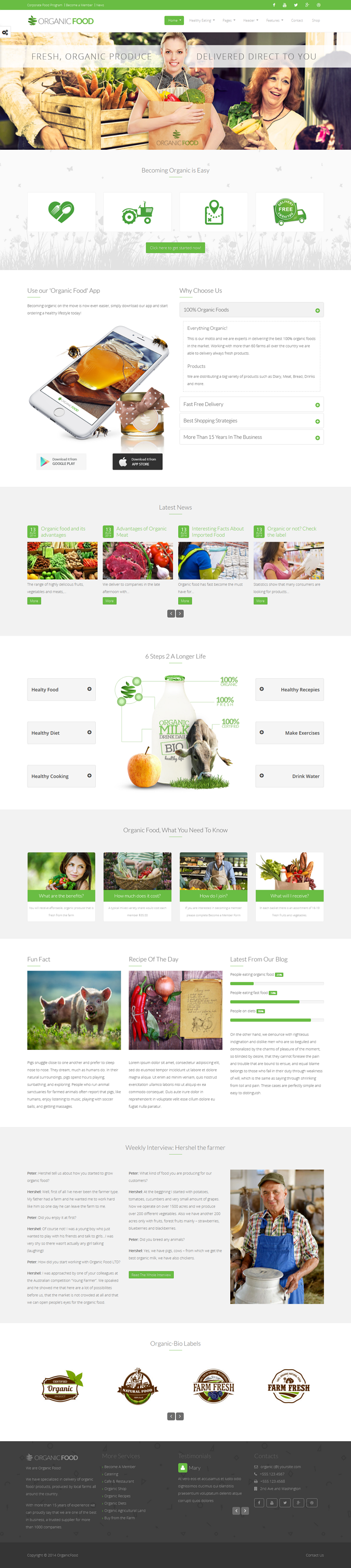 Organic Food is a clean, modern, functional and easy-to-use responsive parallax WordPress theme  ...