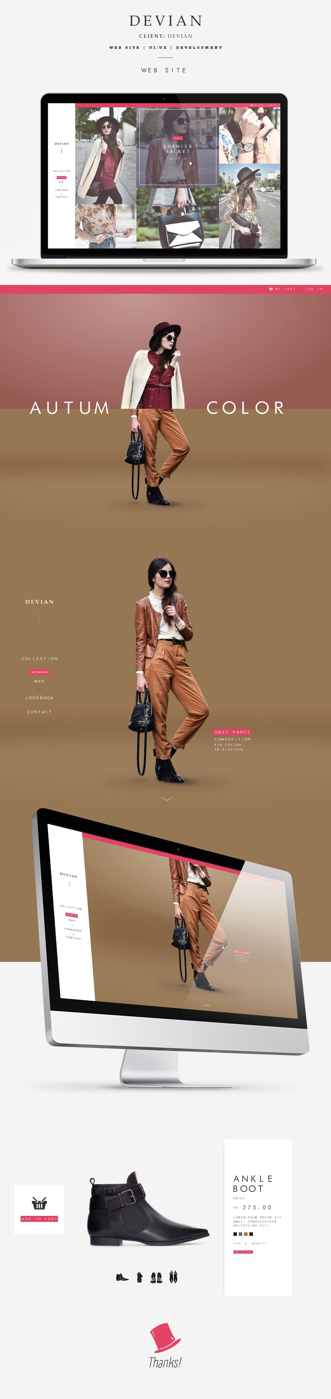 devian – web design inspiration