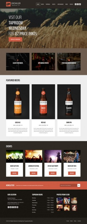 This theme suited for a restaurant, pub, bar, cafe, winery etc.