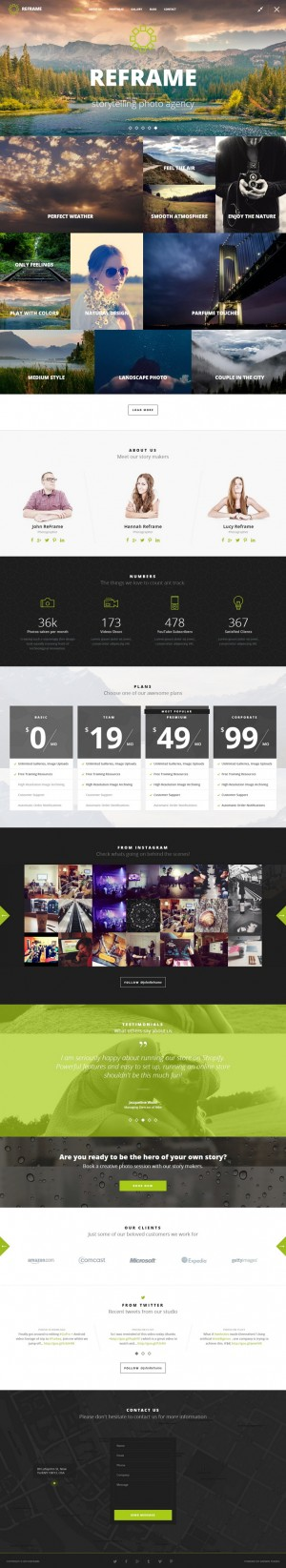 ReFrame is an incredible Responsive Photography HTML Template. This HTML Template will suit phot ...