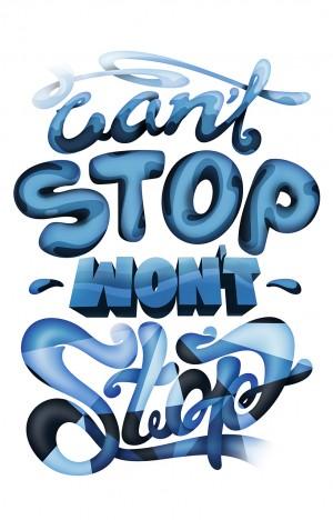Can't Stop illustration by JOHAN HÖRBERG
