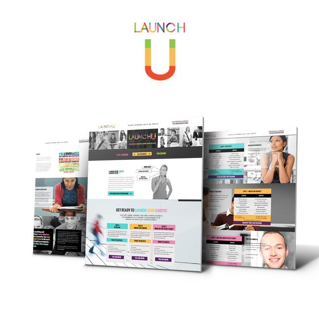 #portfolio update – LaunchU – #Webdesign #branding #logodesign