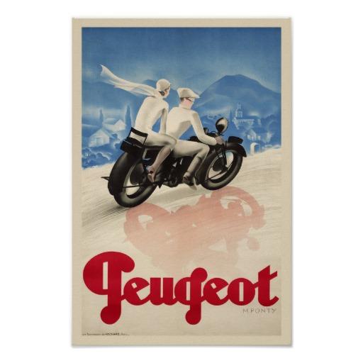Vintage motorcycle ad poster motorbike bike wheels