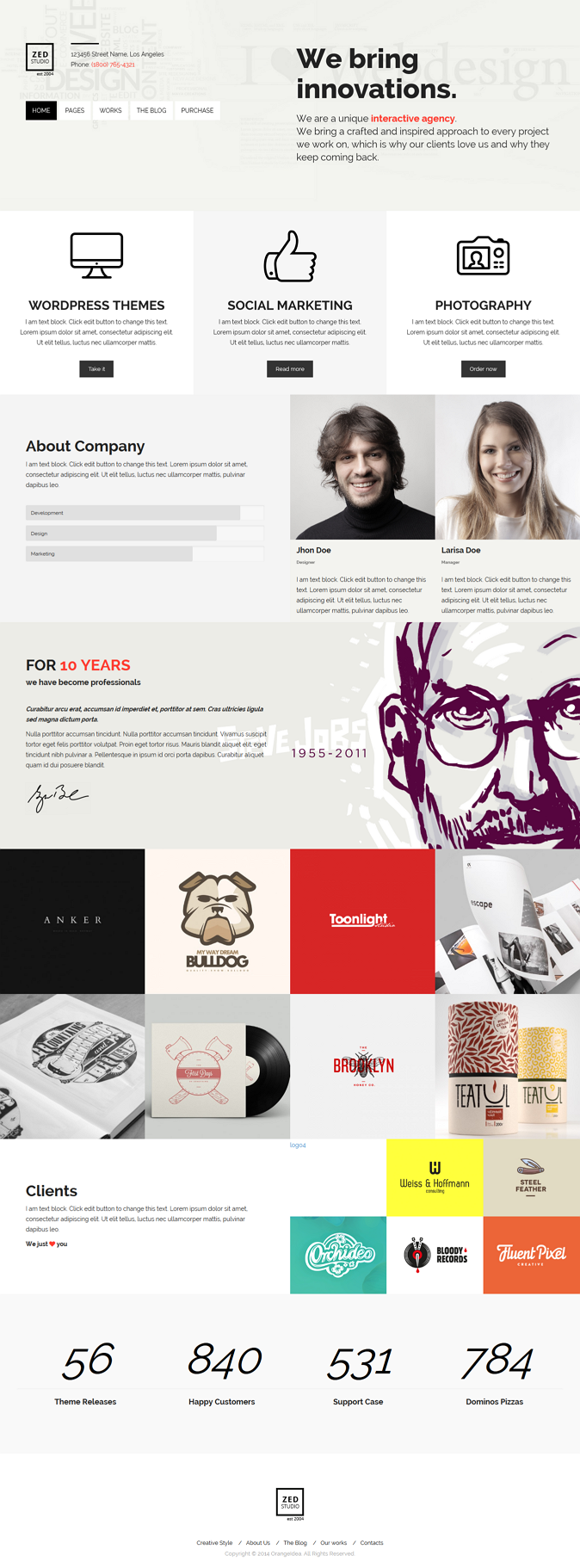 ZED Premium Portfolio and Business WP Theme