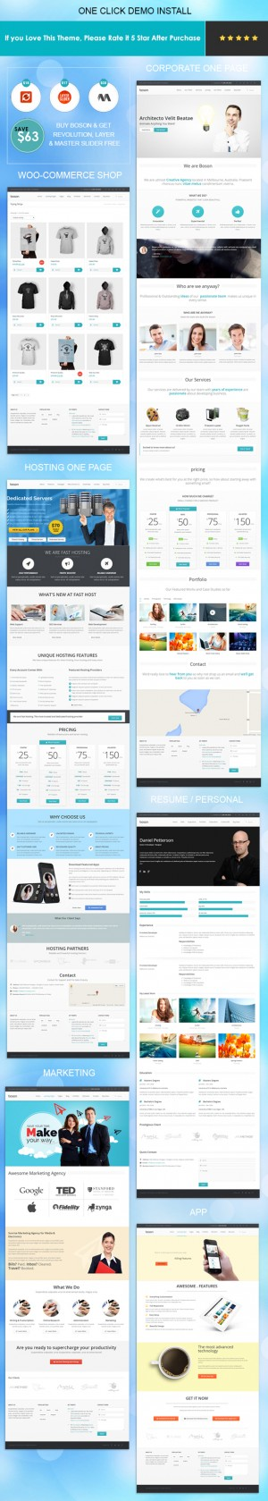 Boson is a professional multipurpose WordPress Theme with Drag and Drop Page Builder. You can us ...