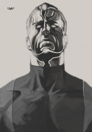 Colossus fanart — X sketch 04 — by wyv1