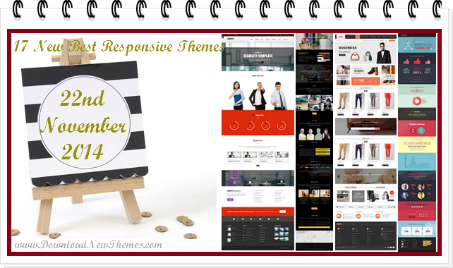 17 new best Responsive websites themes of 22nd November 2014