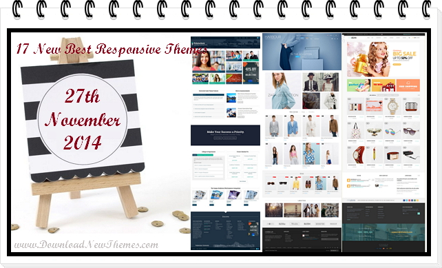 In this article, we have collected 17 new best Responsive websites themes of 27th November 2014. ...