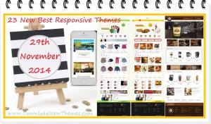 In this article, we have collected 23 new best Responsive websites themes of 29th November 2014.