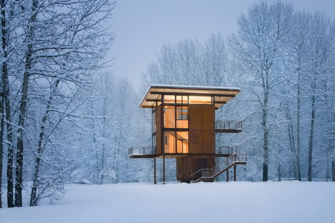An Incredible Steel Cabin In The Middle Of Nowhere