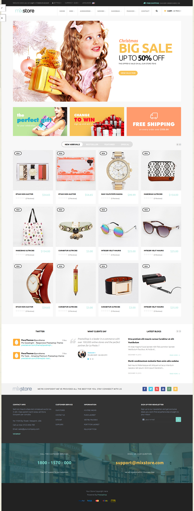 Pts Mixstore is all in one responsive Prestashop theme powered with the best Prestashop Page Builder