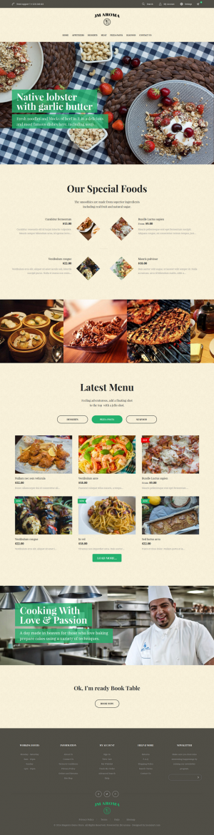 Vintage and vivid, responsive Magento theme Aroma is a striking choice to decorate your online r ...