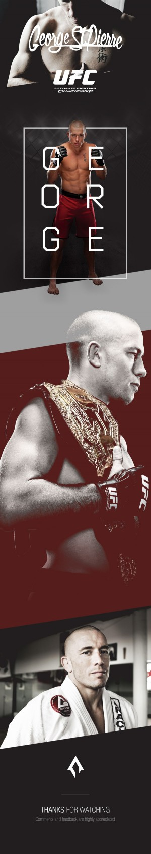 UFC | George St-Pierre :: A presentation for the UFC fighter George St-Pierre