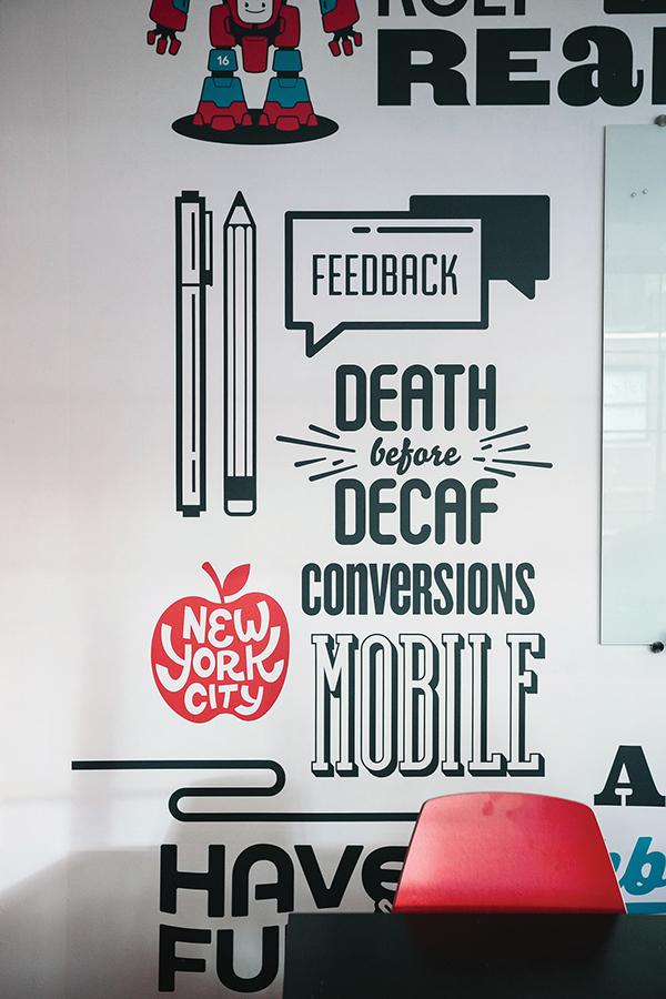 Appboy Office Mural