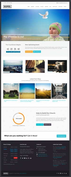 Hopes is a powerful and responsive Multipurpose WordPress Theme with pretty much advanced featur ...