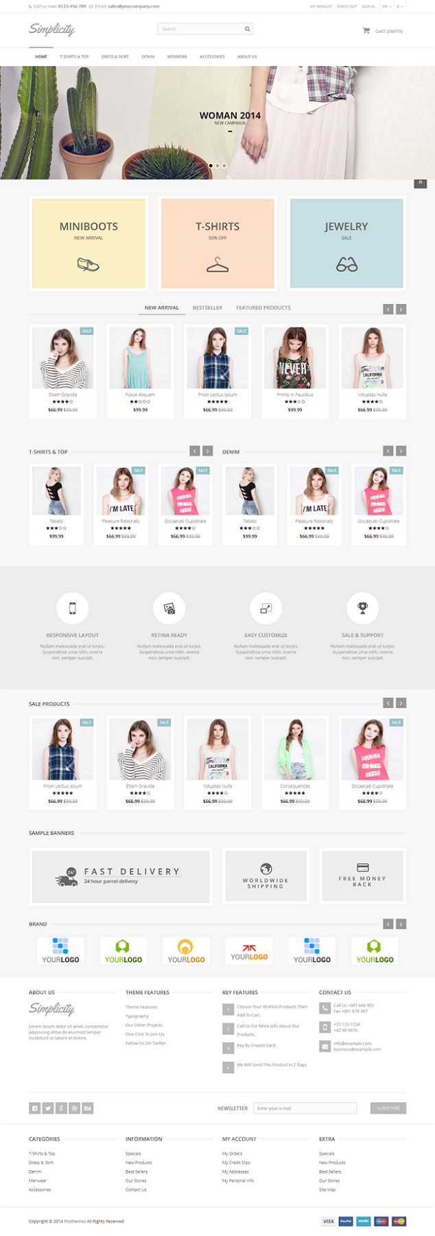 Simplicity, a specialized Prestashop Theme for fashion store, high fashion store, shoes store, a ...