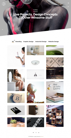 Brama is a new creative agency theme for WordPress. This theme is ideal for creative agency/arti ...