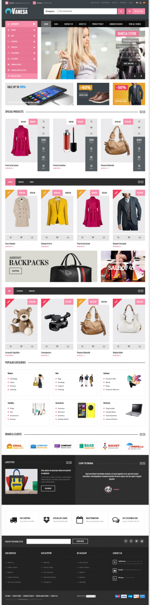 Vanesa is a Mega Store Magento Theme from Plazathemes. It's great choice for a lot of stores : f ...