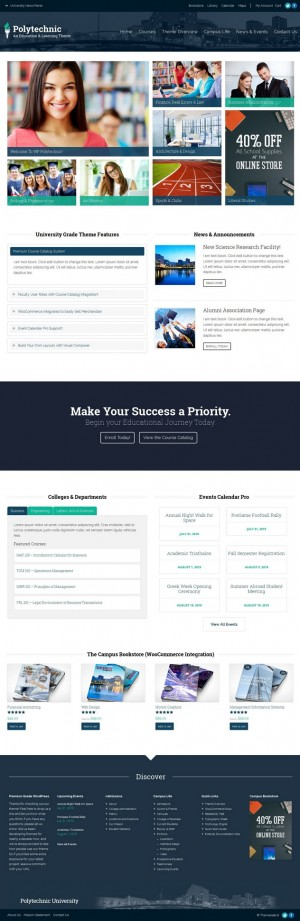 Polytechnic is an responsive, education and student focused WordPress Theme. It's beautiful, cle ...
