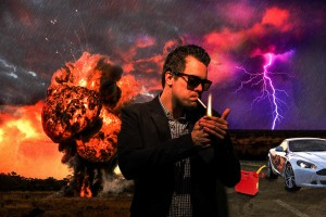 Photoshopped myself in a explosive movie scene