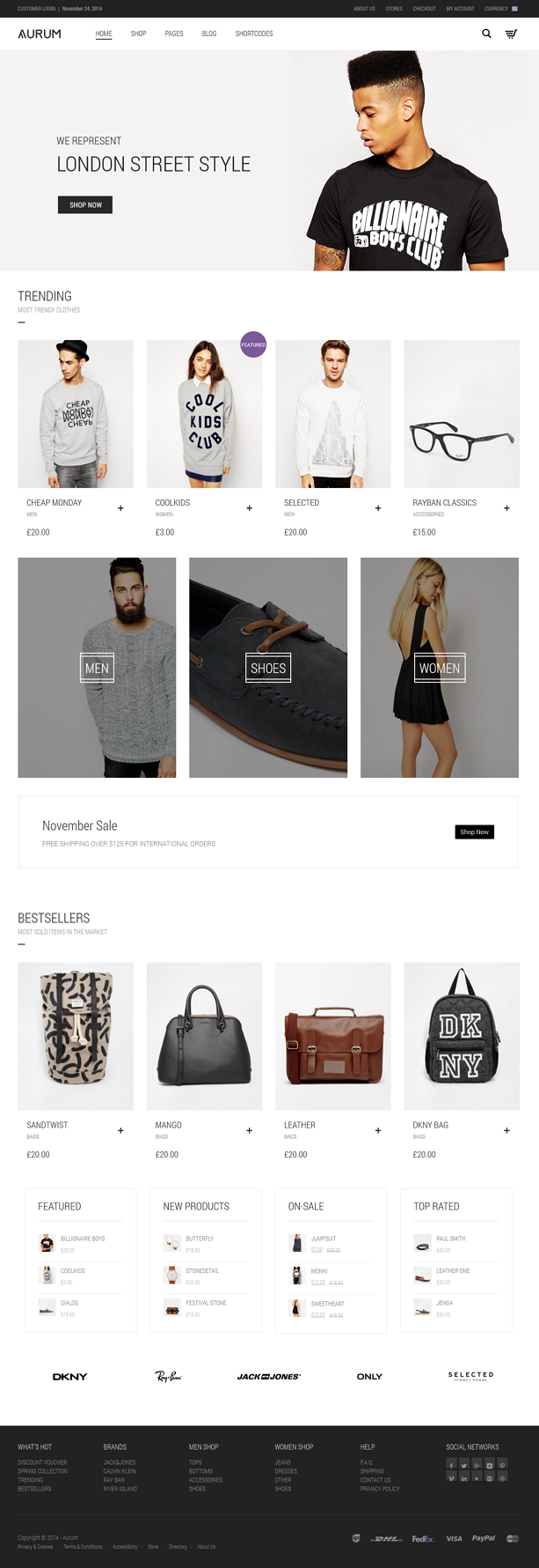 Aurum is an minimalist WooCommerce theme that will give you and your customers a smooth shopping ...