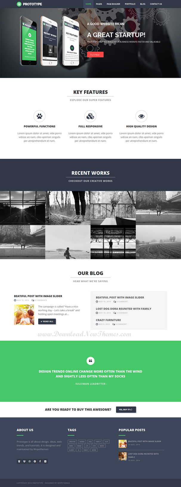 Prototype is Premium Flat Drupal theme which have many powerful features to allow you build webs ...