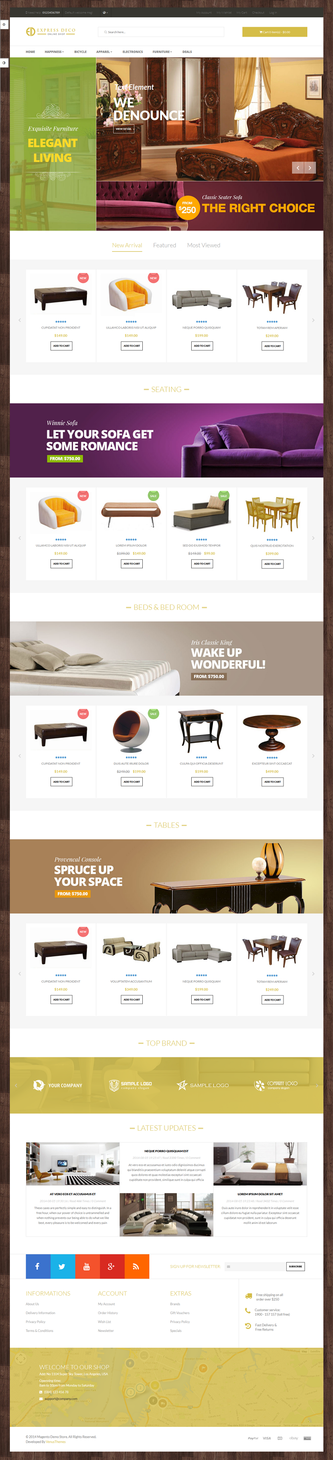 Venus Express Store is a Responsive / Multiple Purpose Magento Template suitable for any kind of ...