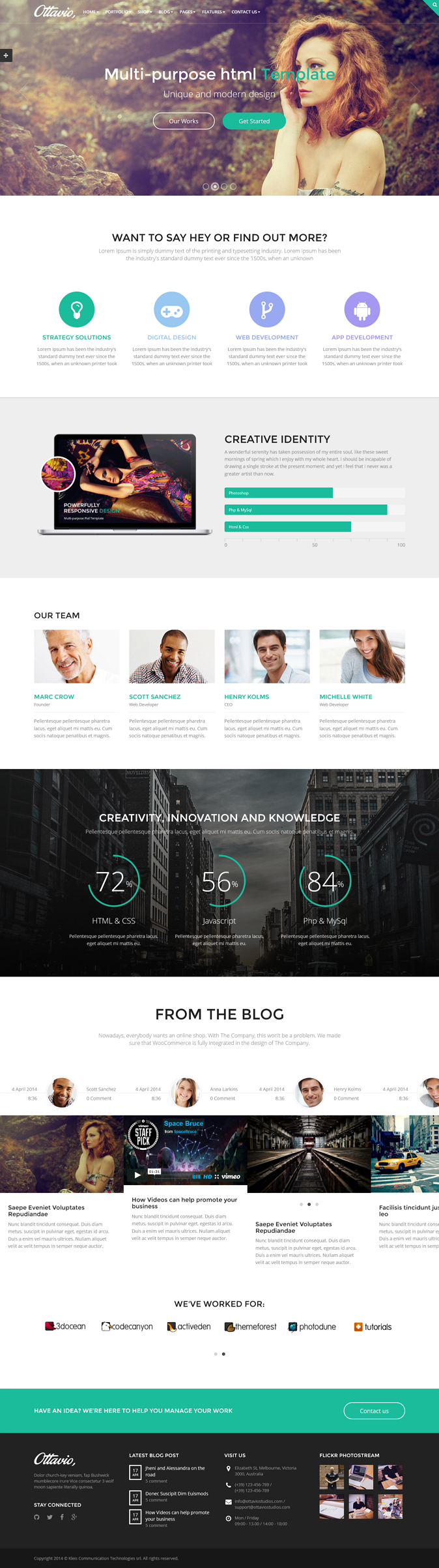 Ottavio is a One Page and Multi Page Theme fully responsive and easy to customize. Designed to b ...