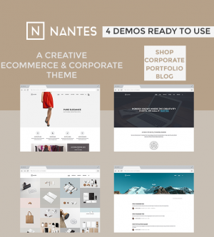 Nantes is a creative eCommerce & corporate template suitable for any business.