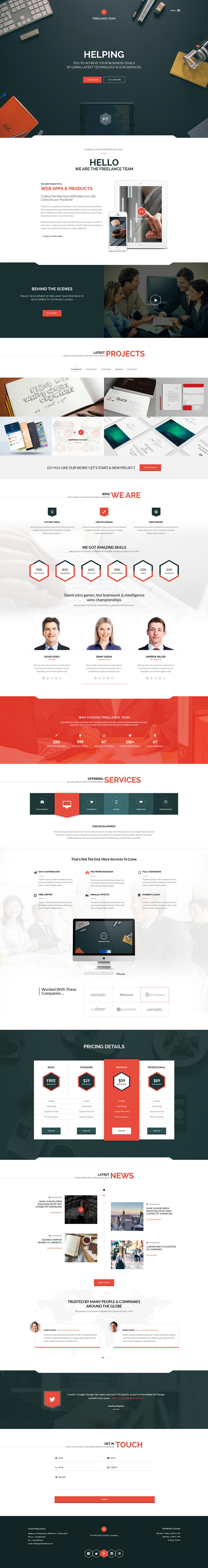 7 New Best Responsive Websites Themes (1st November 2014)