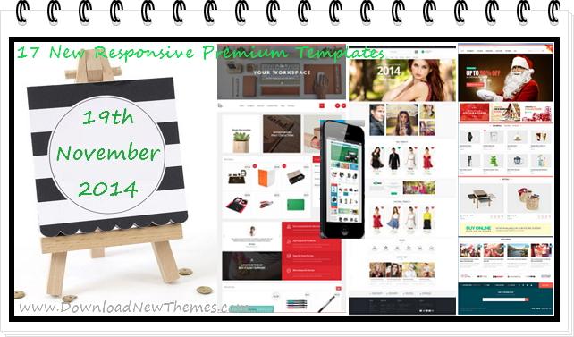 17 New Responsive Premium Templates (19 Nov 2014)