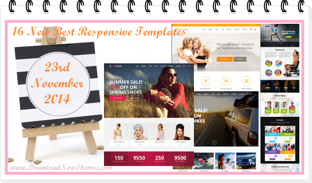 16 New Best Responsive Templates (23 Nov 2014)