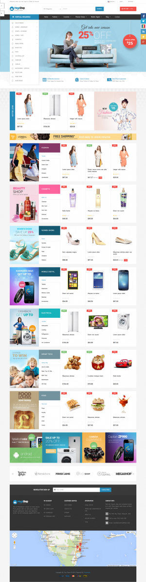 Pts Megashop is the best multipurpose responsive Prestashop theme for Fashion, Digital, Food, Re ...