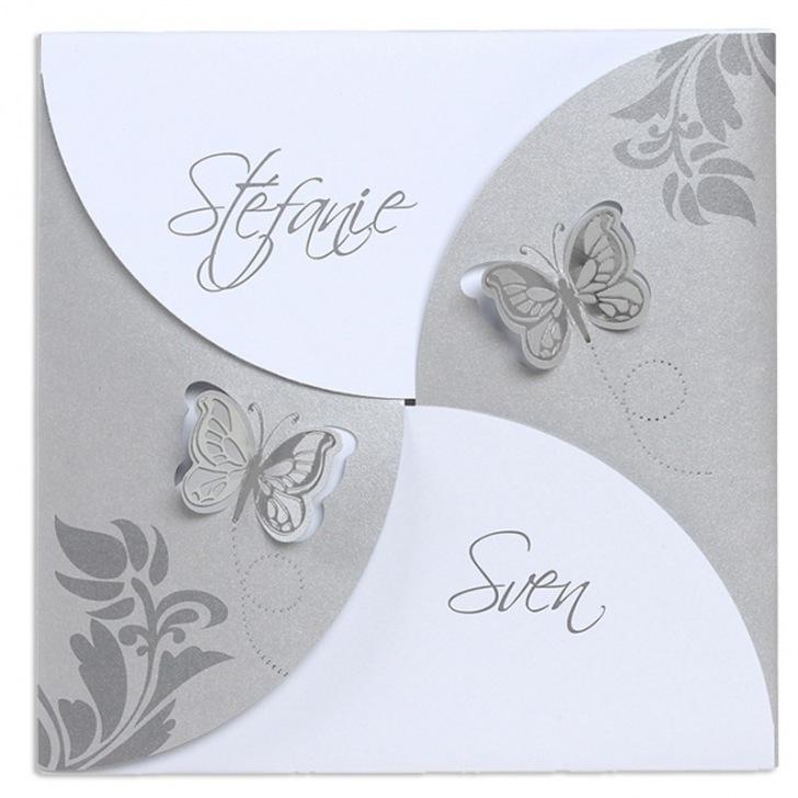 Faire-part de mariage papillons