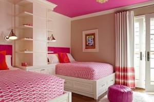 Pink Ceiling Kids Room