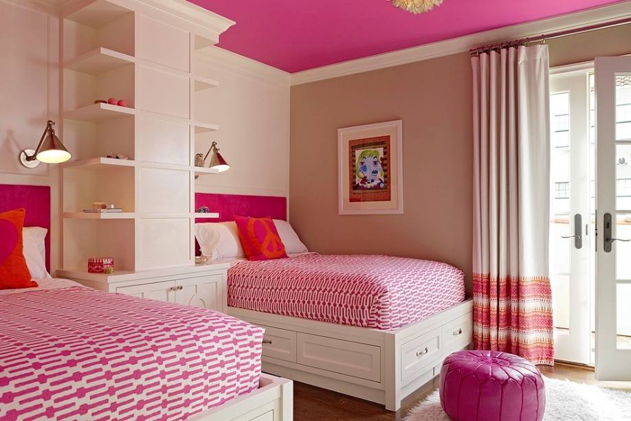 Pink Ceiling Kids Room