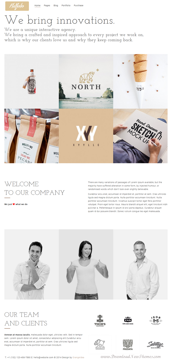 best portfolio and business WordPress theme