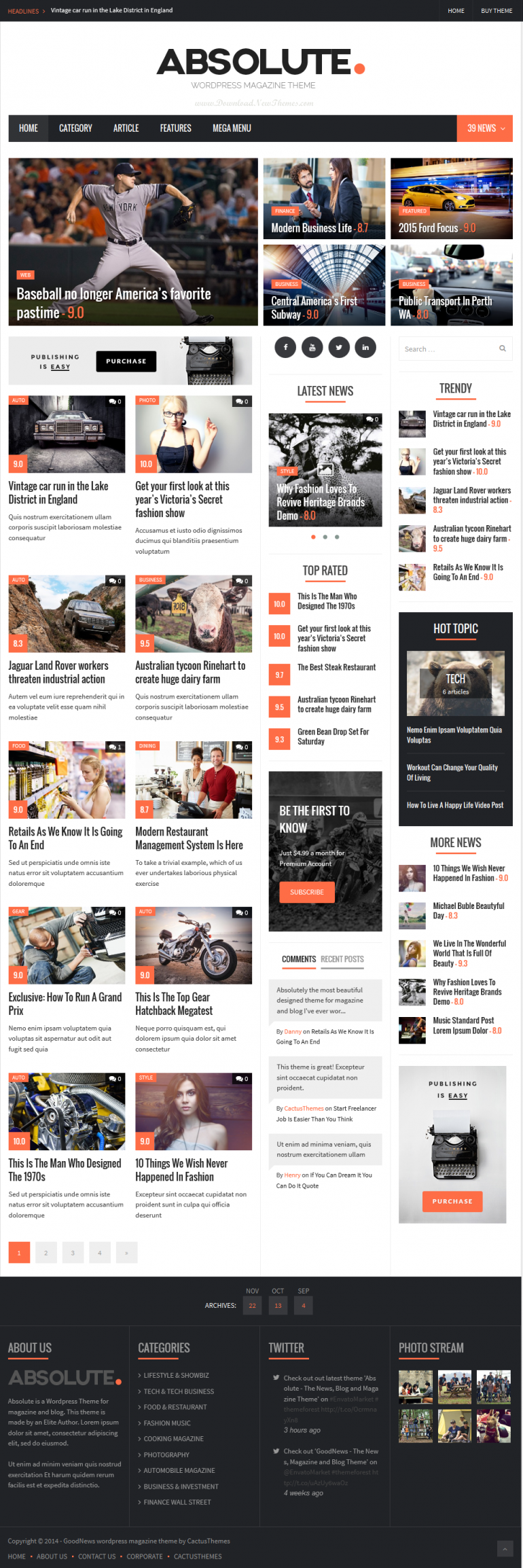 In this article, we have collected 25 new best Responsive websites themes of 28th November 2014. ...