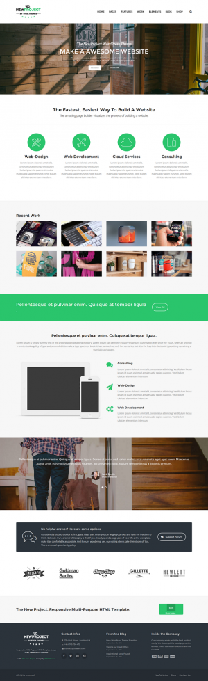 New Project is an flexible easy to use and powerful responsive multipurpose WordPress theme! A t ...